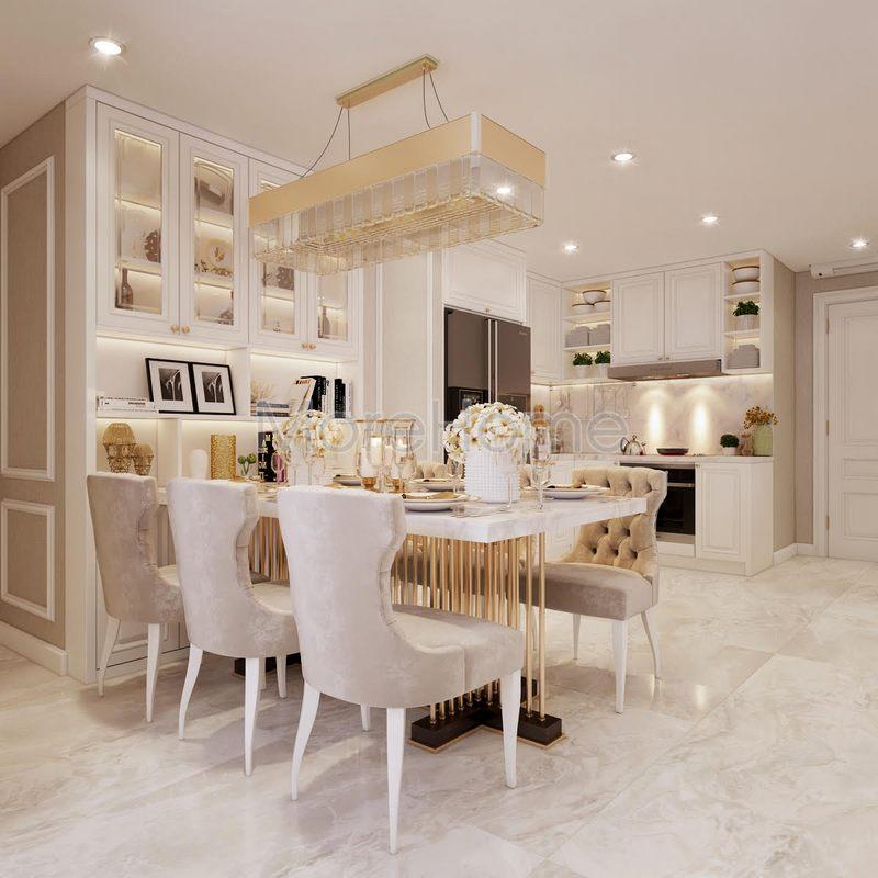 Những mẫu trần thạch cao phòng bếp ngắm mãi không chán